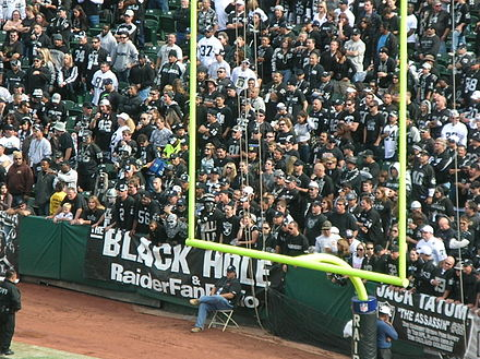 Football Photos - Raider Nation - The Black Hole during a home game against the Atlanta Falcons on November 2, 2008.