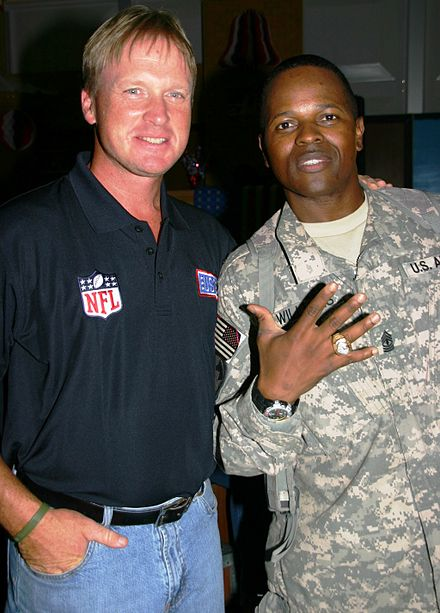 Football Photos - Jon Gruden - Jon Gruden Coaches Tour Camp Liberty July 4, 2009