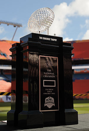 College Football Photos - BCS National Championship Game - Uf 2008 Coaches Trophy