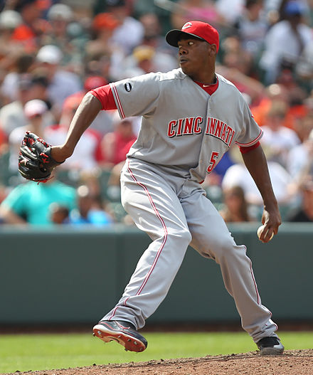 Baseball Photos - Aroldis Chapman - Chapman throwing a pitch