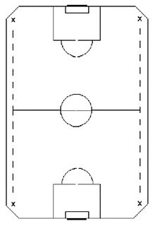 Soccer Photos - Indoor Soccer - Diagram of a possible North American indoor soccer field