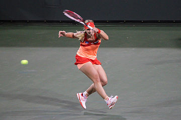 Tennis Photos - Angelique Kerber - Kerber playing in the 2012 Indian Wells Masters where she made the semifinal.