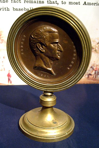 Baseball Photos - Abner Doubleday - Fort Sumter Medal bearing the likeness of Major Robert Anderson, and presented to Abner Doubleday.