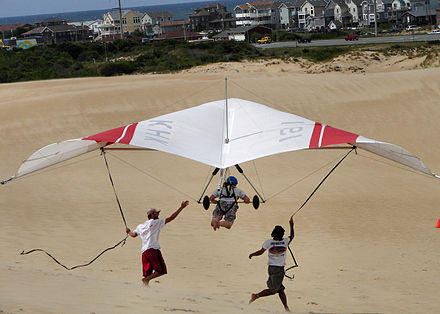 Sports Photos - Hang Gliding - Learning to hang glide