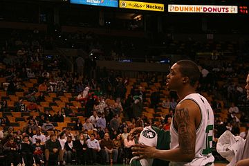 Basketball Photos - Allan Ray - Ray during a game with the Celtics