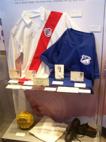 Soccer Photos - Alfredo Di Stefano - Di Stéfano's memorabilia at the Real Madrid museum