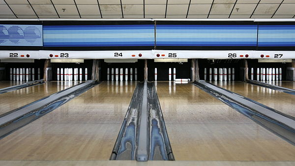 Sports Photos - Candlepin Bowling - Candlepin lanes at a bowling alley in Woburn, Massachusetts