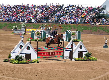 Sports Photos - Eventing - Show jumping phase at the Rolex Kentucky Three Day.: Show jumping