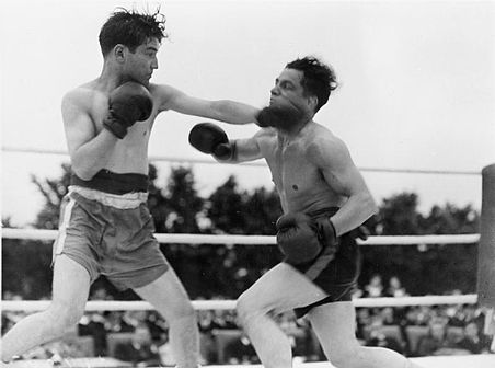 Boxing Photos - Boxing - Two Royal Navy men boxing for charity. The modern sport was codified in England.