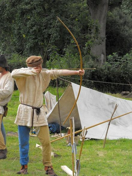 Sports Photos - Archery - Medieval archery reenactment
