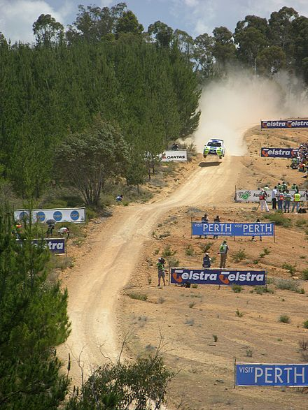 Motorsports Photos - World Rally Championship - Ford's Marcus Grönholm at the Bunnings Jumps of the 2006 Rally Australia.