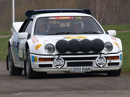 Motorsports Photos - World Rally Championship - Group B Ford RS200.