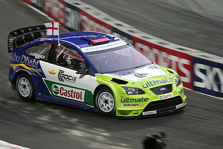 Motorsports Photos - World Rally Championship - Andy Priaulx driving a Ford Focus RS WRC 07 at the 2007 Race of Champions.