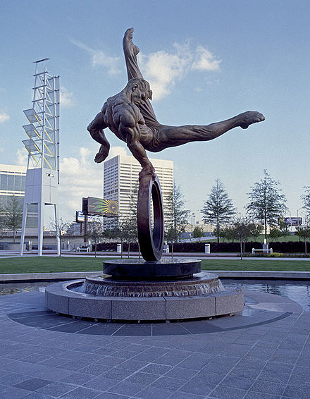 Olympics Photos - 1996 Summer Olympics - The Flair Monument, erected in remembrance of the games