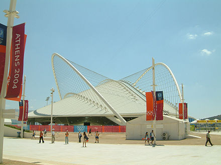Olympics Photos - 2004 Summer Olympics - The Athens Olympic Velondrome during the Olympic games of 2004