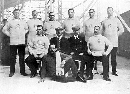 Olympics Photos - 1908 Summer Olympics - The gold medal winning British tug of war team from the City of London Police.