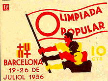 Olympics Photos - 1936 Summer Olympics - Publicity for the unsuccessful 1936 People's Olympiad in Barcelona