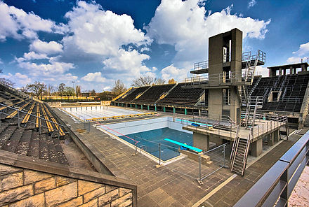 Olympics Photos - 1936 Summer Olympics - The swimming venue, c.2008.