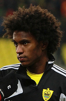 Soccer Photos - Willian - Willian Anzhi