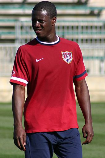 Soccer Photos - Eddie Johnson (American Soccer) - Johnson training with the United States national team