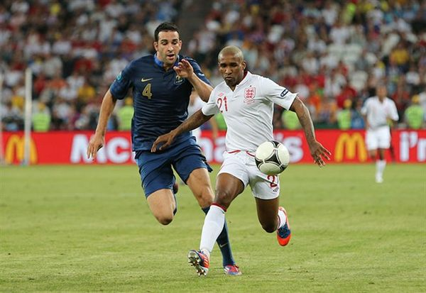 Soccer Photos - Jermain Defoe - Defoe playing for England at UEFA Euro 2012.