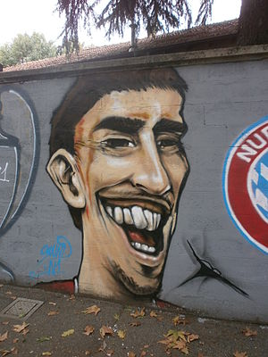Soccer Photos - Franck Ribery - Graffiti of Ribery at San Siro - Milano - Italy