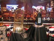 Baseball Photos - Chicago White Sox - The White Sox' World Series Trophy on display at U.S. Cellular Field during the 2006 season