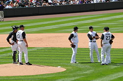 Baseball Photos - Colorado Rockies - Clint Hurdle making a pitching change.