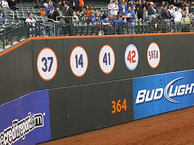 Baseball Photos - New York Mets - Retired numbers by the Mets at Citi Field
