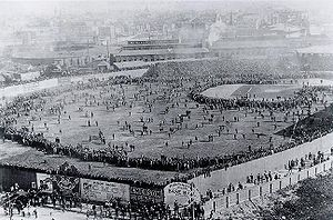 Baseball Photos - Boston Red Sox - Iconic photo of the Huntington Avenue Grounds before the first modern World Series game
