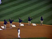 Baseball Photos - New York Highlanders - The Groundscrew at Yankee Stadium dancing to the Y.M.C.A.