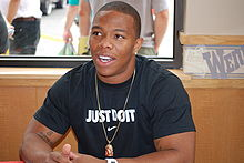 Football Photos - Ray Rice - Rice signing autographs in 2009.