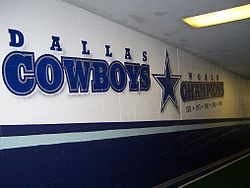 Football Photos - Dallas Cowboys - Five-time World Champions Mural