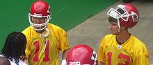 Football Photos - Kansas City Chiefs - Damon Huard (left) and Brodie Croyle (right) both served as the Chiefs' starting quarterback after Trent Green's departure.