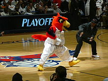 Basketball Photos - Atlanta Hawks - The Hawks' mascot