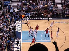 Basketball Photos - Houston Rockets - The Rockets playing the Utah Jazz in the 2008 playoffs.