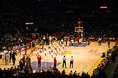 Basketball Photos - Los Angeles Lakers - Laker Girls perform during a home Los Angeles Lakers game.