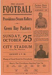 "Basketball Photos - Providence Steam Rollers - 1931 program between the ""Steam Rollers"" and Green Bay Packers"